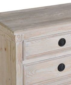 Modern Rustic reclaimed wood six drawer chest